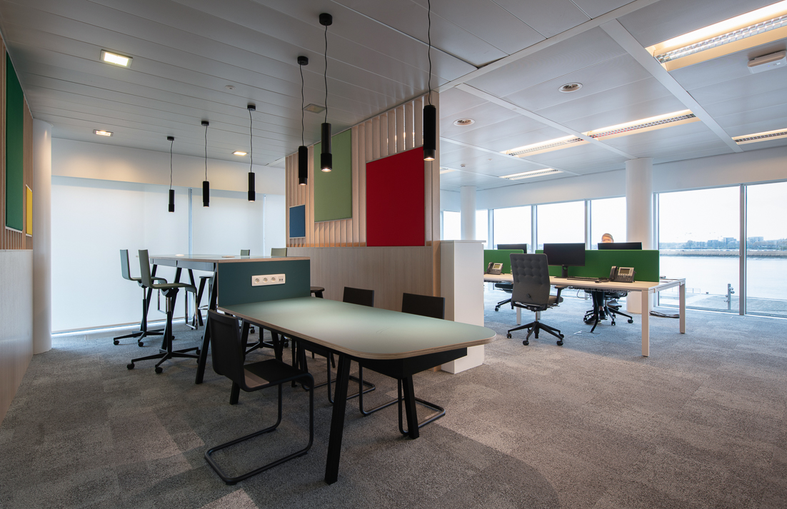 The flex office corner at CBRE Belgium's Antwerp offices