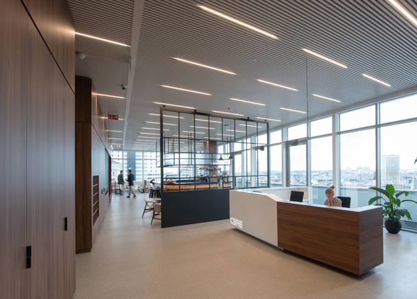 Reception area in CBRE Belgium's Brussels offices
