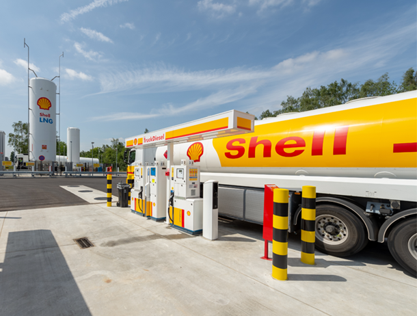 First Shell LNG filling station in Herstal, Belgium
