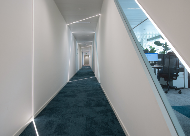 View of the corridor in Plastics Europe's Brussels offices